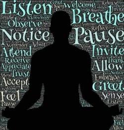 silouette d'un yogi